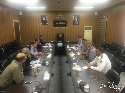 جلسه شورای ترافیک شهرستان آزادشهر برگزار شد.