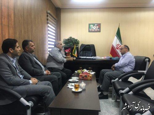 دیدار رییس دانشگاه پیام نور استان با فرماندار شهرستان آزادشهر