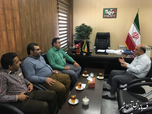 دیدار مدیرکل کتابخانه های عمومی استان گلستان با فرماندار شهرستان آزادشهر