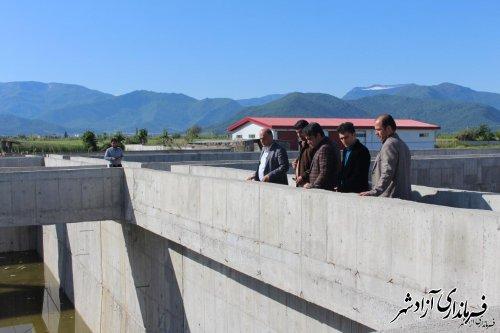 بازدید فرماندار شهرستان آزادشهر از پروژه ملی تصفیه خانه در حال احداث آزادشهر