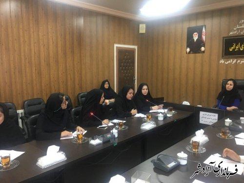 جلسه شورای اداری نمادین کودکان و نوجوانان در شهرستان آزادشهر برگزار شد