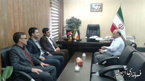 دیدار رییس دادگستری و دادستان شهرستان آزادشهر با فرماندار به مناسبت هفته دولت