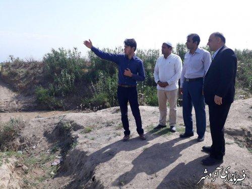 بازدید فرماندار آزادشهر از روستای قورچای بخش مرکزی این شهرستان