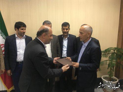 کریم زیتونلی به عنوان رییس اداره راهداری و حمل و نقل جاده ای شهرستان آزادشهر شد
