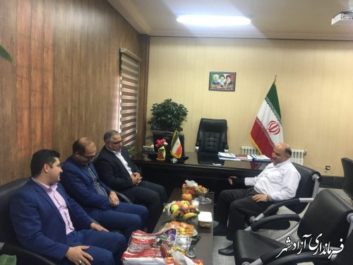 دیدار مدیر امور شعب بانک ملی شرق استان با فرماندار شهرستان آزادشهر