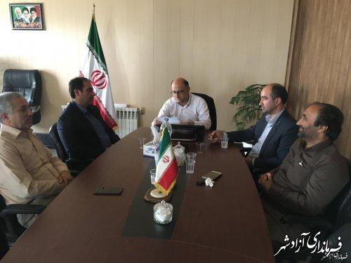 دیدار رییس و اعضای شورای شهر آزادشهر با فرماندار شهرستان آزادشهر