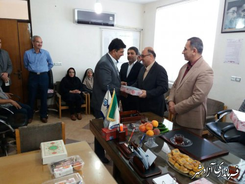 تجلیل از بازنشستگان و مصرف کنندگان نمونه اداره آبفار شهرستان آزادشهر