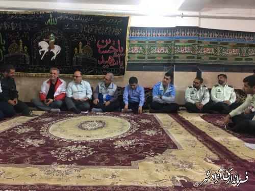برگزاری جلسه اضطراری شورای هماهنگی مدیریت بحران شهرستان آزادشهر در روستای سیب چال