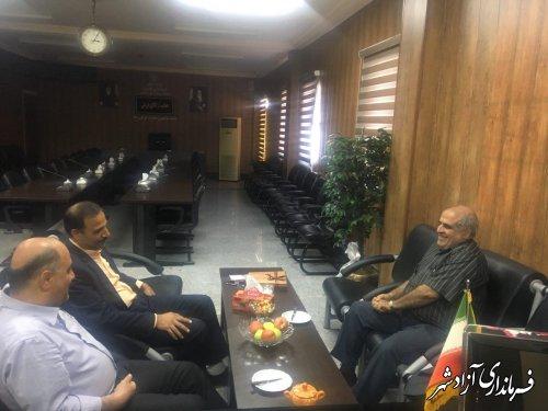 دیدار رییس دانشگاه پیام نور استان گلستان با فرماندار شهرستان آزادشهر