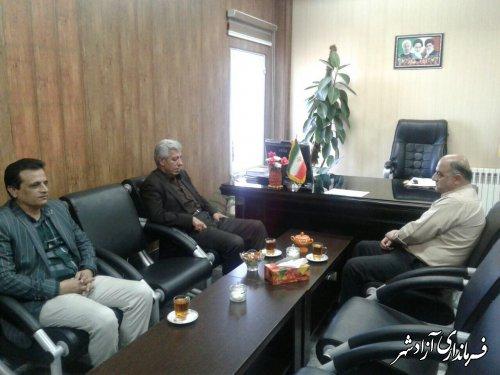دیدار فرماندار جدید گالیکش با فرماندار شهرستان آزادشهر