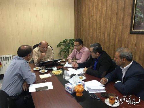 دیدار ماهانه فرماندار شهرستان آزادشهر با شهرداران آزادشهر، نوده خاندوز و نگین شهر