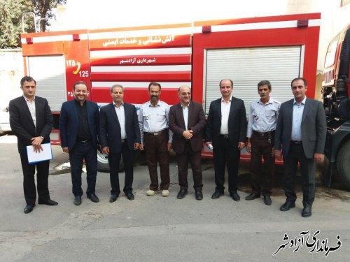 فرماندار از پایگاه آتش نشانی شهرداری آزادشهر بازدید کرد