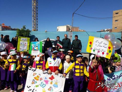 برگزاری جشن هفته ملی کودک در شهرستان آزادشهر