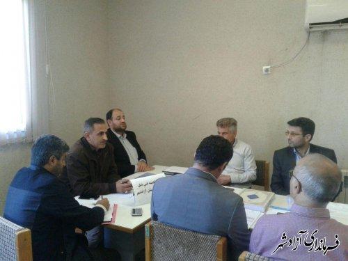 جلسه کمیته فنی اشتغال شهرستان آزادشهر با موضوع بررسی عمکرد دستگاه ها اجرایی و بانک های عامل در حوزه اشتغال برگزار شد