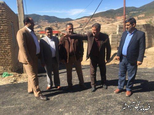 بازدید معاون فرماندار شهرستان آزادشهر از طرح های عمرانی در حال انجام روستای نراب