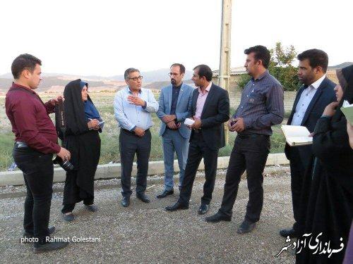 تور رسانه ای خبرنگاران و عکاسان شرق استان از پروژه های عمرانی بخش مرکزی آزادشهر برگزار شد