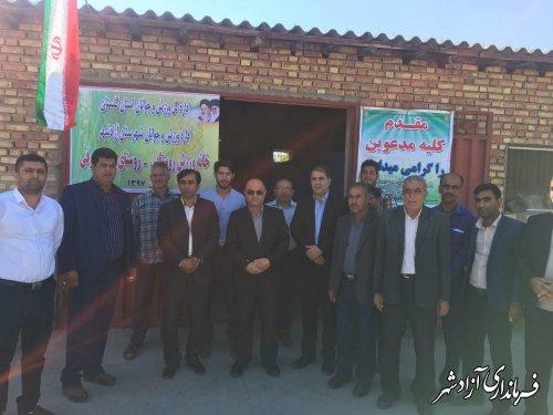 افتتاح 2 خانه ورزش روستایی در شهرستان آزادشهر