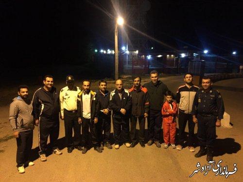 پیاده روی مسئولین شهرستان آزادشهر در مسیر امامزادگان آق امام