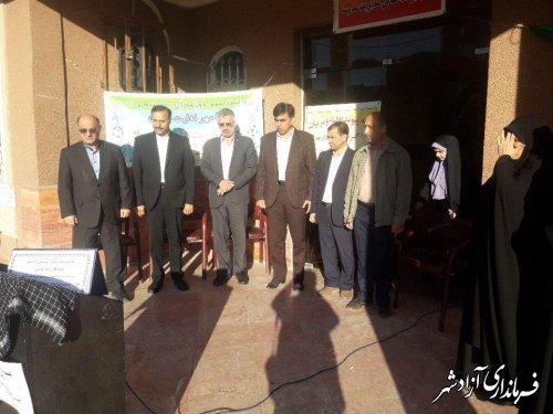 برگزاری صبحگاه مشترک دانش آموزی در شهرستان آزادشهر