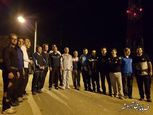 پیاده روی شبانه در مسیر امازادگان آق امام