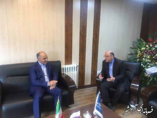 دیدار فرماندار شهرستان آزادشهر با مدیرکل جدید دامپزشکی استان گلستان