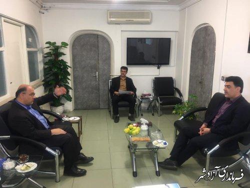 دیدار فرماندار شهرستان آزادشهر با مدیرعامل شرکت آب و فاضلاب روستایی استان گلستان