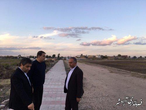 بازدید معاون فرماندار و نماینده مجلس از روند ساخت استادیوم ورزشی شهرستان آزادشهر