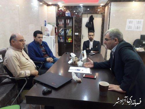 بازدید فرماندار از بیمارستان 64 تخت خوابی حضرت معصومه(س) شهرستان آزادشهر