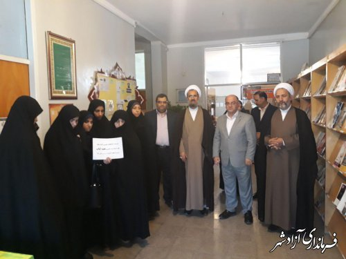 بازدید فرماندار و امام جمعه از کتابخانه های عمومی شهرستان آزادشهر