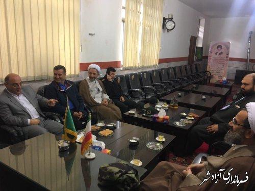 دیدار فرماندار شهرستان آزادشهر با امام جمعه این شهر