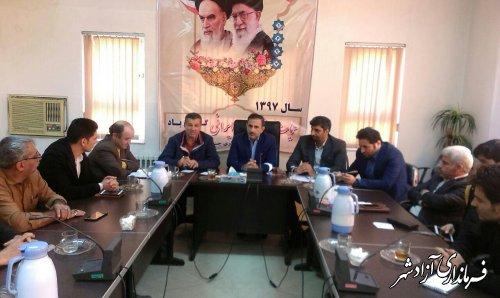 سومین جلسه هماهنگی روستاهای بدون بیکار شهرستان آزادشهر برگزار شد