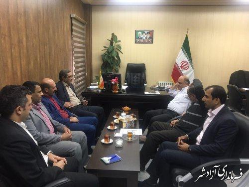 دیدار مدیرکل بنیاد شهید و امور ایثارگران استان گلستان با فرماندار شهرستان آزادشهر