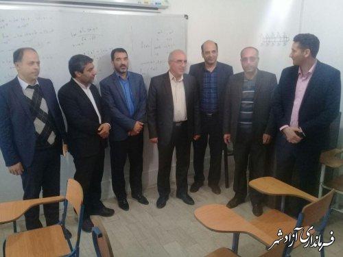 بازدید معاون سیاسی و امنیتی فرماندار به همراه اعضای کمیسیون دانشجویی از دانشکده علوم انسانی خواهران واحد آزادشهر