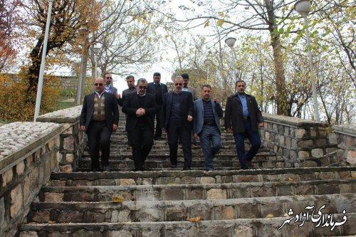 بازدید رییس سازمان مدیریت و برنامه ریزی از پروژه های عمرانی شهر نوده خاندوز