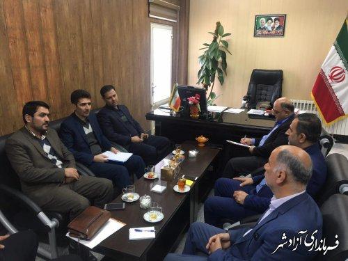 دیدار مدیرکل ارتباطات و فناری اطلاعات استان گلستان با فرماندار شهرستان آزادشهر