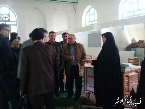 بازدید فرماندار از برگزاری میز خدمت ادارات در مصلی خاتم الانبیا (ص) شهرستان آزادشهر
