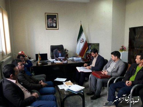 جلسه با اعضا هیات مدیره شرکت تعاونی دهیاران بخش مرکزی آزادشهر