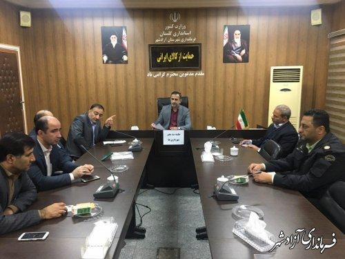 با تشکیل کارگروهی مشکل سد معبر در شهرستان آزادشهر را حل خواهیم کرد