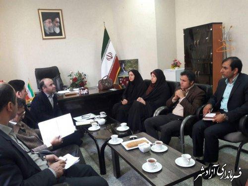 اولین جلسه کارگروه دانشنامه شهرستان آزادشهر
