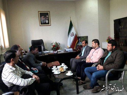 جلسه بازرسی از عملکرد مالی و عمرانی شرکت تعاونی دهیاران بخش مرکزی آزادشهر