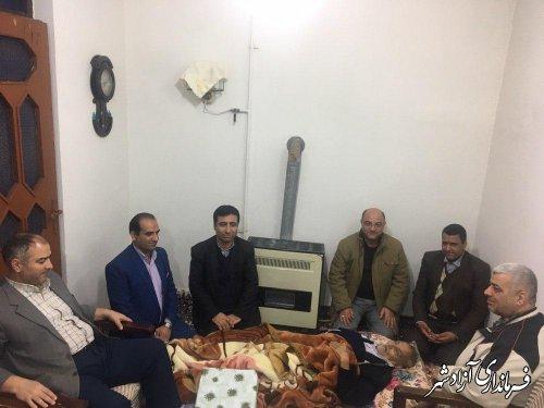 دیدار فرماندار شهرستان آزادشهر با پدر بزرگوار شهید عبدالله میرعرب