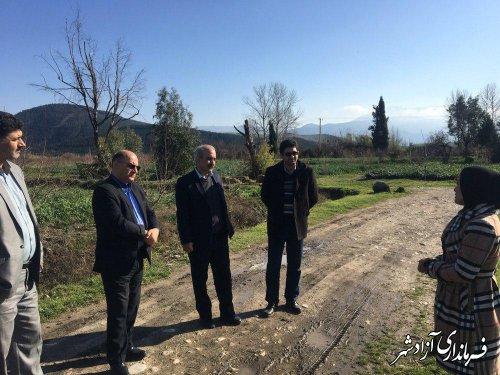 بازدید مدیرکل حوزه استانداری گلستان از چند پروژه شهرستان آزادشهر