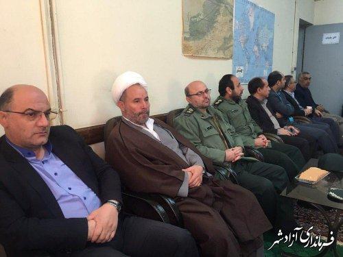 برپایی مراسم جشن چله انقلاب در حوزه مخابرات و ارتباطات شهرستان آزادشهر