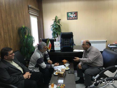 دیدار فرماندار شهرستان آزادشهر با سرمایه گذار بخش خصوصی