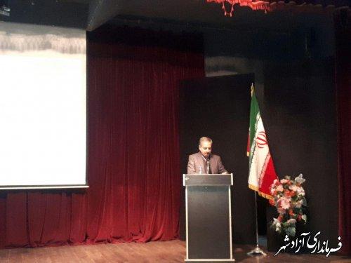 آیین افتتاح و کلنگ زنی 109 پروژه عمرانی و اقتصادی در شهرستان آزادشهر برگزار شد