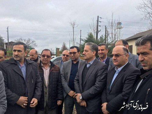 احداث فاز دوم تصفیه خانه ناحیه صنعتی آقچلی شهرستان آزادشهر کلنگ زنی شد