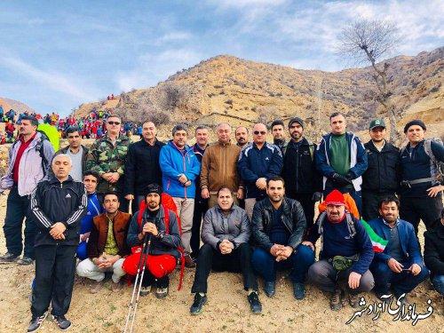 برگزاری بزرگترین کوهنوردی زمستانه استان در شهرستان آزادشهر