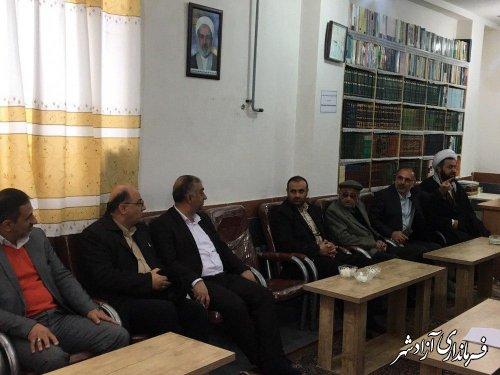 دیدار فرماندار آزادشهر به همراه نماینده مجلس شورای اسلامی با امام جمعه نگین شهر