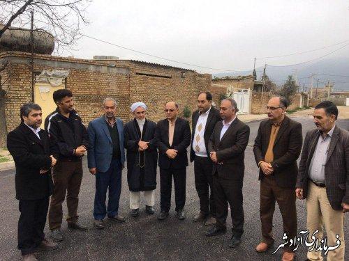 افتتاح طرح هادی و زیرسازی و آسفالت معابر روستای قزلجه آق امام آزادشهر