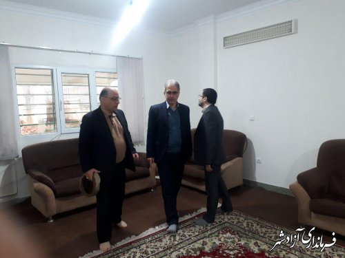 بازدید مدیرکل مدیریت بحران استانداری از فرمانداری شهرستان آزادشهر